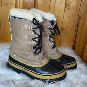 Sorel Caribou Winter Leather Snow Boots 9
